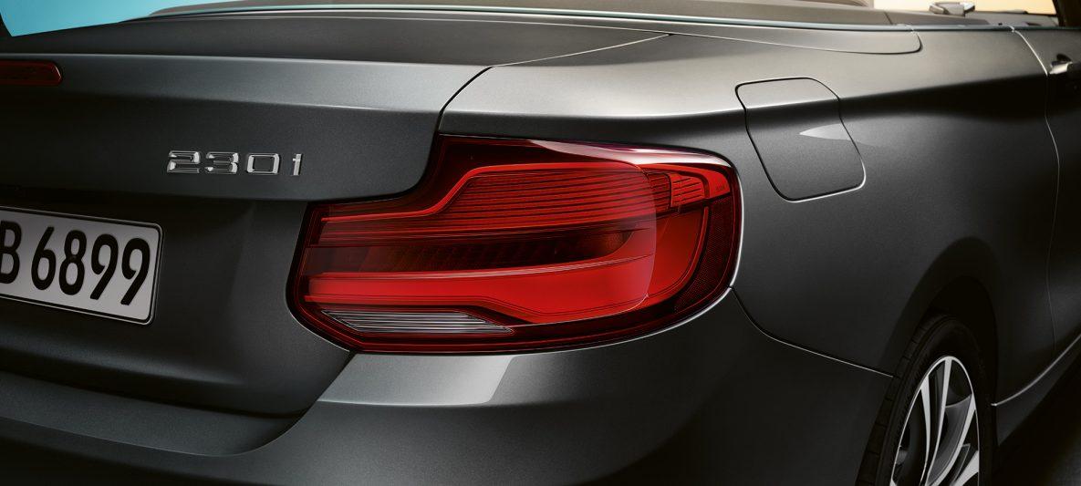 BMW 2er Cabrio, Modellname am Heck