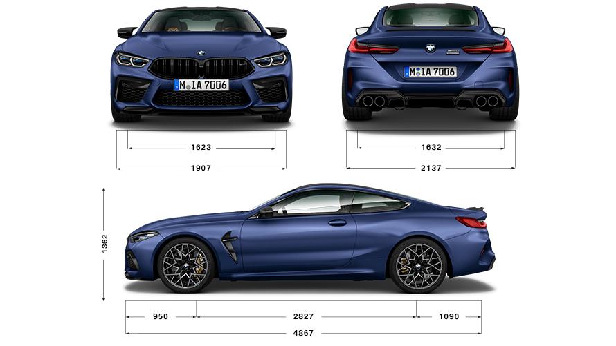 Technische Daten BMW 8er Coupé M