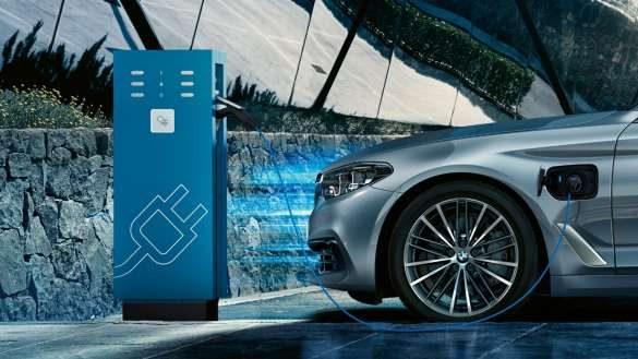 BMW 530e Ladestation