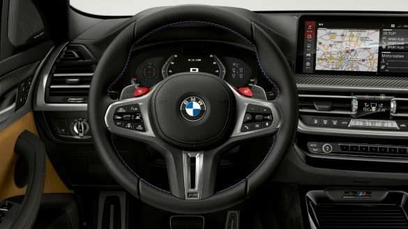 BMW X3 M Competition F97 LCI Facelift 2021 M Servotronic Cockpit mit M Lederlenkrad