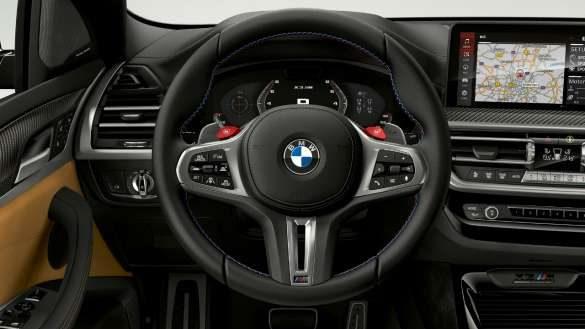 BMW X3 M Competition F97 LCI Facelift 2021 M Lederlenkrad Cockpit